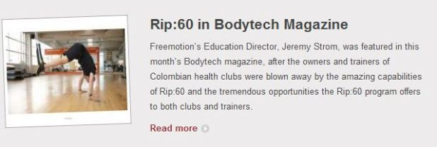 Rip:60 Makes BODYTECH magazine