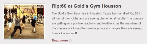Rip:60 at Golds Gym Houston