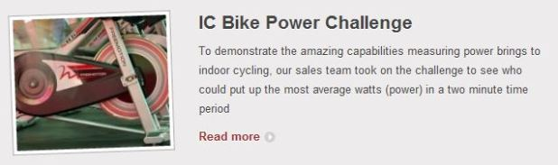 FreeMotion IC Bike Power Challenge
