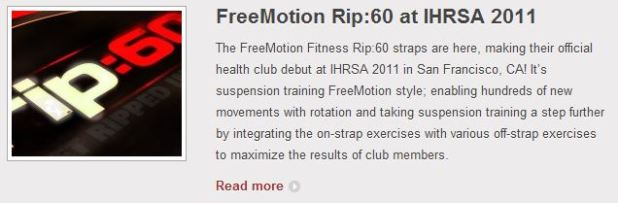 Rip60 introduced at IHRSA 2011